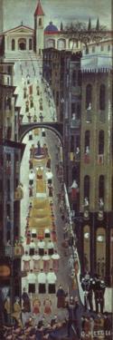 Religious Procession Returns by Orneore Metelli
