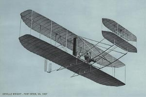 Orville Wright in Biplane
