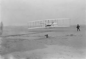 Orville Wright on First Flight at 120 feet Photograph - Kitty Hawk, NC