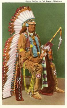 Osage Indian in Full Dress, Oklahoma