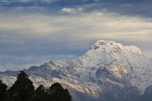 Annapurna South (Left) And Annapurna I (Right) From The South. Annapurna Conservation Area. Nepal by Oscar Dominguez