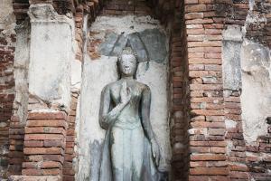 Buddha Statue. Wat Phra Mahathat Temple. Ayutthaya. Ayutthaya Province. Thailand by Oscar Dominguez