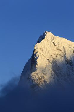 Cholatse Peak At Sunset. Sagarmatha National Park. Solukhumbu District. Nepal by Oscar Dominguez