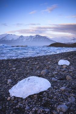 Glacier Ice Floating In The Jokulsarlon Glacier Lagoon. Vatnajokull National Park. Iceland by Oscar Dominguez
