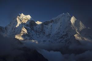 Kangtega And Thamserku Peaks. Sagarmatha National Park. Solukhumbu District. Nepal by Oscar Dominguez