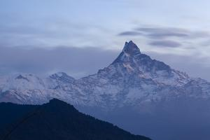 Machapuchare Peak (Fish Tail) From The South. Annapurna Conservation Area. Nepal by Oscar Dominguez