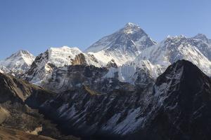 Mount Everest From Gokyo Ri. Sagarmatha National Park. Solukhumbu District. Nepal by Oscar Dominguez