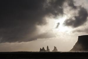 Sea Stacks At Reynisdrangar At Dusk. Vik. Iceland by Oscar Dominguez