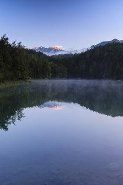 Sunrise Over Freshwater Eibsee. Garmisch-Partenkirchen. Upper Bavaria. Germany by Oscar Dominguez
