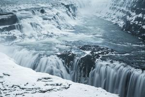 Waterfall Gullfoss In Winter. Arnessysla. Iceland by Oscar Dominguez