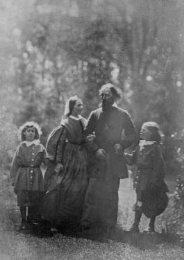 Alfred, Lord Tennyson with His Wife Emily and Two Sons, Hallam and Lionel, C.1862 by Oscar Gustav Rejlander