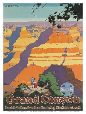 Santa Fe Railroad, Grand Canyon National Park, Arizona, 1940s by Oscar M^ Bryn