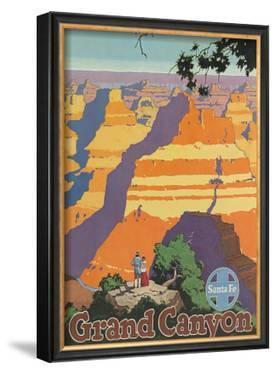 Santa Fe Railroad: Grand Canyon National Park, Arizona by Oscar M. Bryn