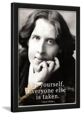 Oscar Wilde Be Yourself Quote Poster