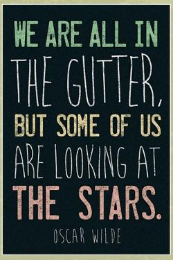 Oscar Wilde Looking At the Stars Quote Plastic Sign