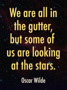Oscar Wilde Looking at the Stars Quote Print Poster