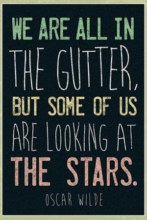 Oscar Wilde Looking At the Stars Quote