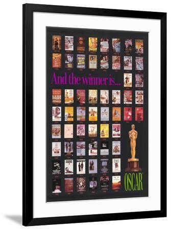 Oscar Winners 1927-1985--Framed Poster