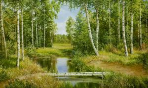 Birch Grove Near Pokrovskoje by Osipov