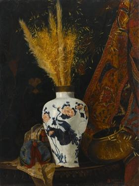 Flowers in a White Vase by Osman Hamdi Bey