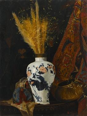 Flowers in a White Vase by Osman Hamdi Bey