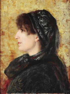 Portrait of Naile Hanim by Osman Hamdi Bey