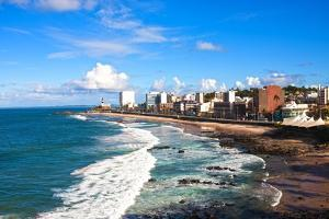 Barra Beach in the Beautiful City of Salvador in Bahia State Brazil by OSTILL