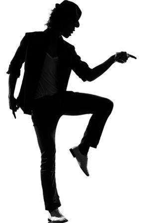 Full Length Silhouette Of A Young Man Dancer Dancing Funky Hip Hop R And B by OSTILL