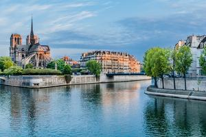 Notre Dame De Paris and the Seine River France in the City of Paris in France by OSTILL