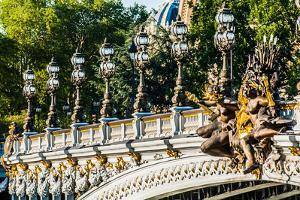 Pont Alexandre III  Alexander the Third Bridge in the City of Paris in France by OSTILL