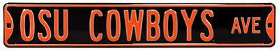 OSU Cowboys Ave Black Steel Sign