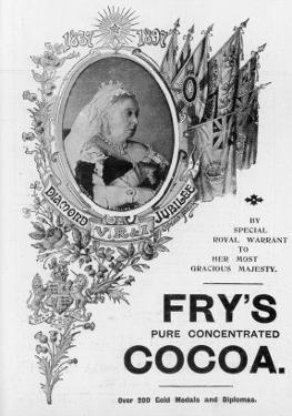 An Advertisement for Fry's Cocoa to Celebrate Queen Victoria's Diamond Jubilee by Oswald Fitch