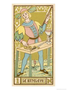 Tarot: 1 Le Bateleur, The Juggler by Oswald Wirth