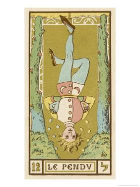 Tarot: 12 Le Pendu, The Hanged Man by Oswald Wirth
