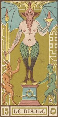 Tarot: 15 Le Diable, The Devil by Oswald Wirth