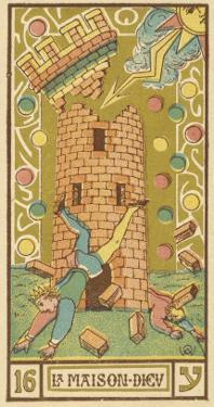 Tarot: 16 La Maison Dieu, The Tower by Oswald Wirth