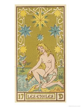 Tarot: 17 Les Etoiles, The Stars by Oswald Wirth