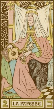 Tarot: 2 La Papesse, The Female Pope by Oswald Wirth