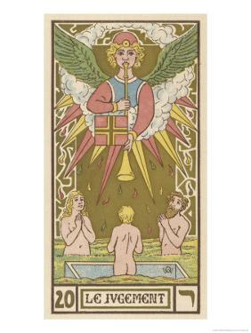 Tarot: 20 Le Jugement, The Judgment by Oswald Wirth