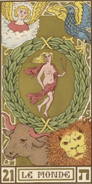Tarot: 21 Le Monde, The World by Oswald Wirth