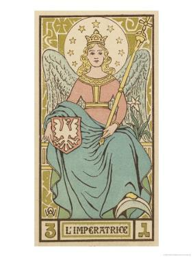 Tarot: 3 L'Imperatrice, The Empress by Oswald Wirth