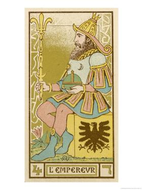Tarot: 4 L'Empereur, The Emperor by Oswald Wirth