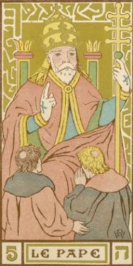 Tarot: 5 Le Pape, The Pope by Oswald Wirth