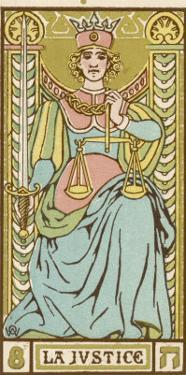Tarot: 8 La Justice by Oswald Wirth