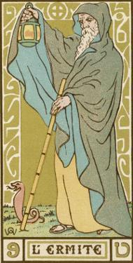 Tarot: 9 L'Ermite, The Hermit by Oswald Wirth