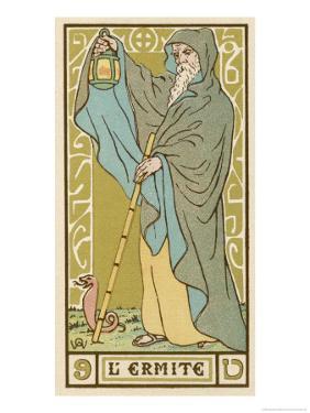 Tarot: 9 L'Ermite, The Hermit by Oswald Wirth