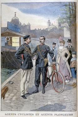 A Cycle and Water Police Officer, Paris, 1900 by Oswaldo Tofani