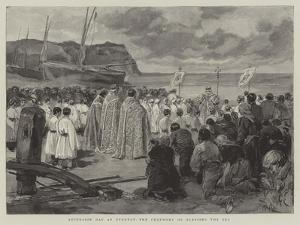 Ascension Day at Etretat, the Ceremony of Blessing the Sea by Oswaldo Tofani