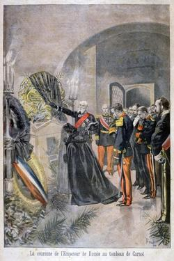 Emperor of Russia at the Tomb of Cornot, 1896 by Oswaldo Tofani
