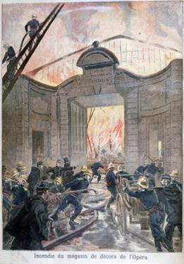 Fire at the Opera, Paris, 1894 by Oswaldo Tofani